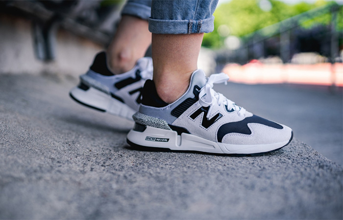 New Balance Black And White WS997JCF on foot 01