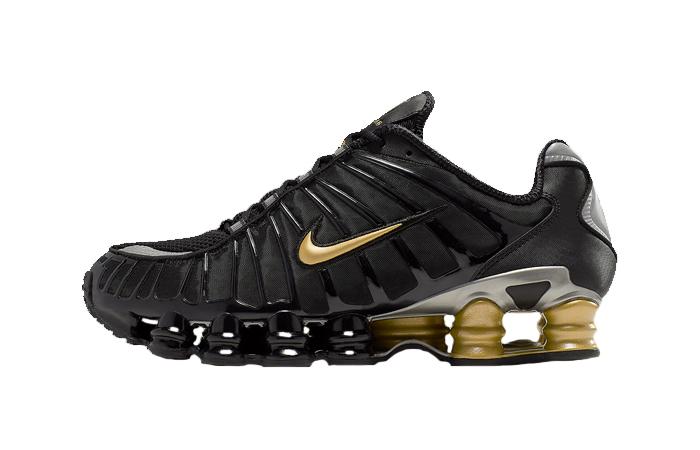 Neymar Jr Nike Shox TL Black Gold BV1388-001 01