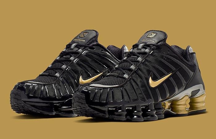 Neymar Jr Nike Shox TL Black Gold BV1388-001 02