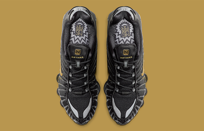 Neymar Jr Nike Shox TL Black Gold BV1388-001