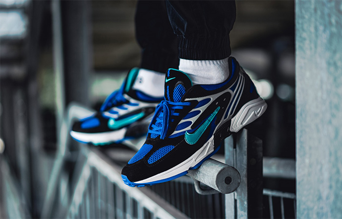 Nike Air Ghost Racer Blue AT5410-001 on foot 01