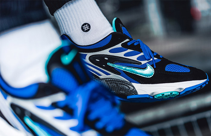 Nike Air Ghost Racer Blue AT5410-001 on foot 03