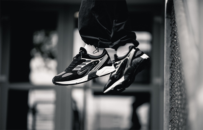 Nike Air Ghost Racer Silver Black AT5410-002 on foot 01