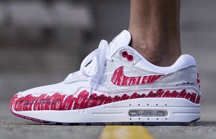 Nike Air Max 1 Tinker Sketch CJ4286-101 on foot 01