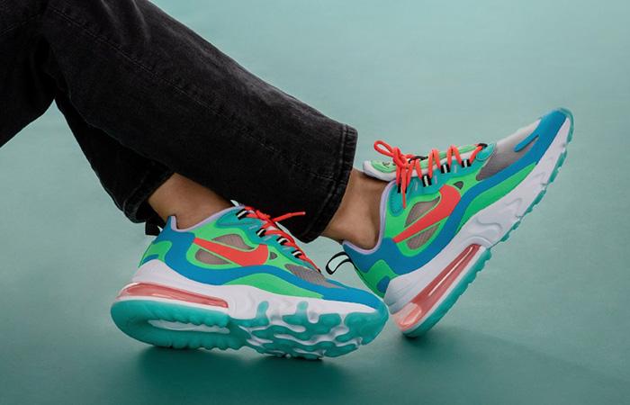 online store ed078 afc0e Nike Air Max 270 React Blue Lagoon