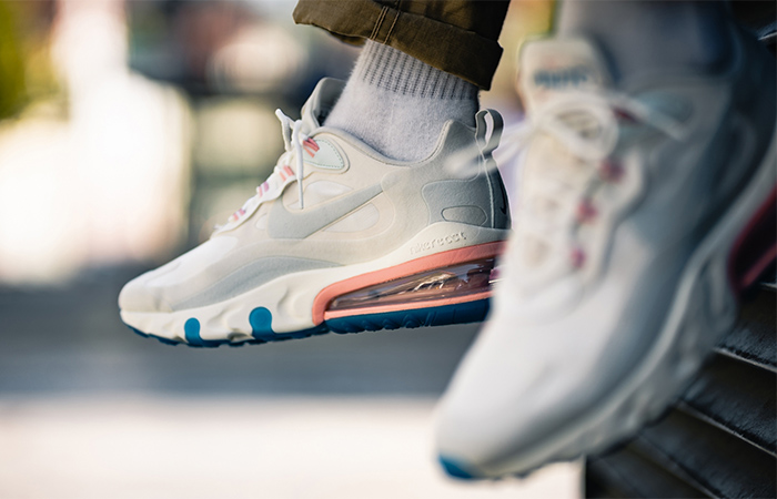 Nike Air Max 270 React Light Cream AO4971-100 on foot 02