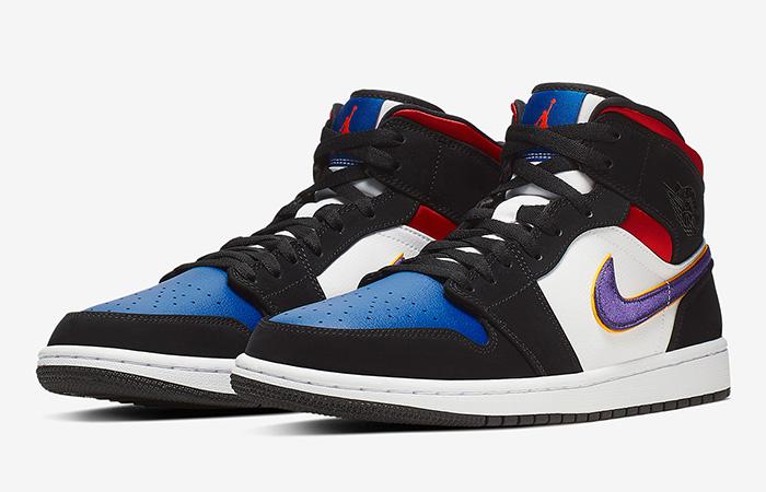 Nike Jordan 1 Mid Blue Red 852542-005 02