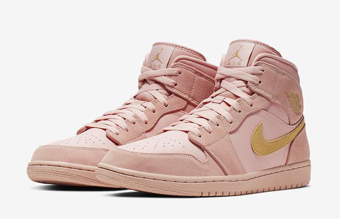 Nike Jordan 1 Mid Coral Gold 852542-600 03