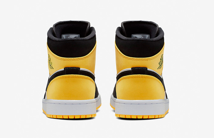 Nike Jordan 1 Mid Yellow Toe Footasylum 852542-071