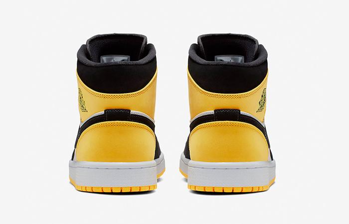 Nike Jordan 1 Mid Yellow Toe Footasylum 852542-071