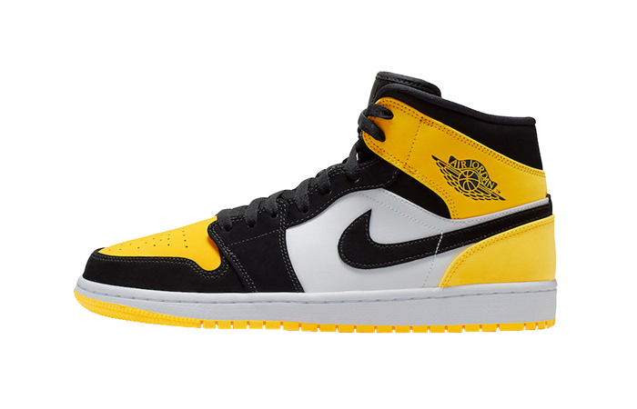 Nike Jordan 1 Mid Yellow Toe Footasylum Exclusive 852542-071 01