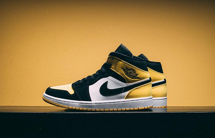 Nike Jordan 1 Mid Yellow Toe Footasylum Exclusive 852542-071 02