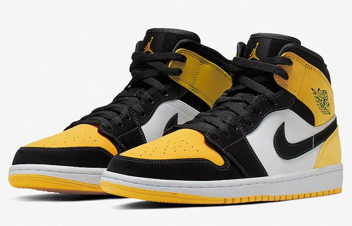 Nike Jordan 1 Mid Yellow Toe Footasylum Exclusive 852542-071 03