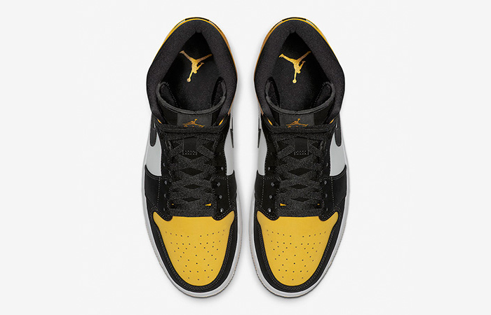 Nike Jordan 1 Mid Yellow Toe Footasylum Exclusive 852542-071