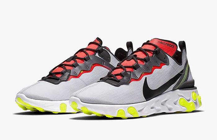 Nike React Element 55 Grey Orange BV1507-003 02