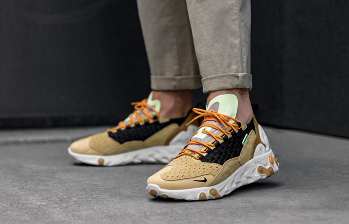 Nike React Sertu Brown AT5301-700 on foot 01