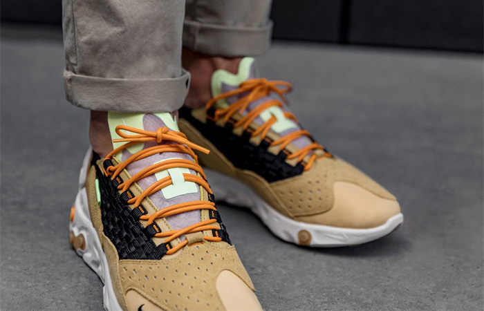 Nike React Sertu Brown AT5301-700 on foot 02