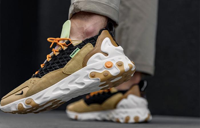 Nike React Sertu Brown AT5301-700 on foot 03
