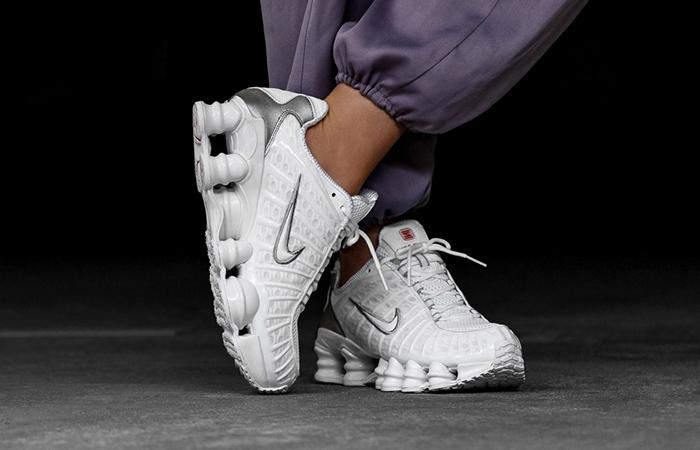Nike Shox TL White AR3566-100 on foot 04