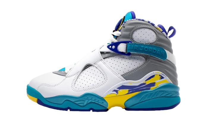 Nike WMNS Air Jordan 8 Retro White Aqua CI1236-100 01