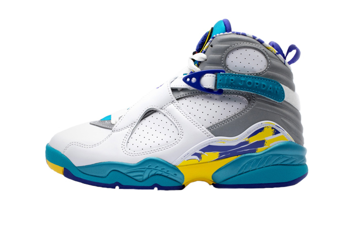Nike WMNS Air Jordan 8 Retro White Aqua CI1236-100 01