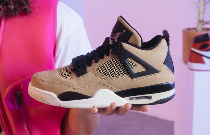 Nike Womens Air Jordan 4 Beige AQ9129-200 02