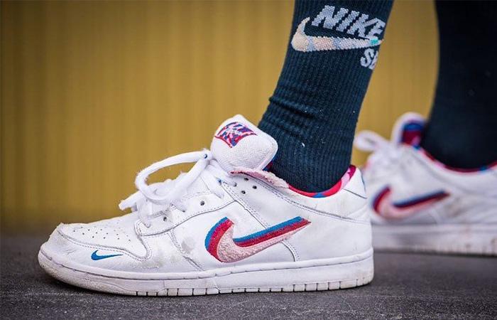 Parra Nike SB Dunk Low OG White CN4504-100 on foot 01
