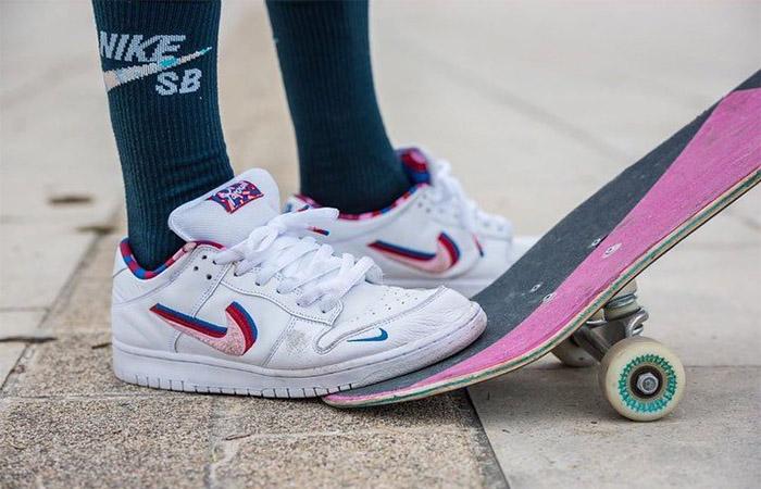 Parra Nike SB Dunk Low OG White CN4504-100 on foot 02