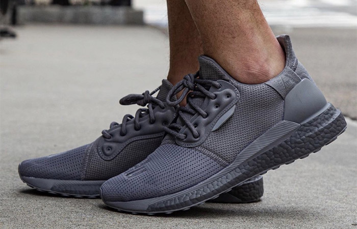 Pharrell adidas Solar Hu Glide Grey EF2380 on foot 02