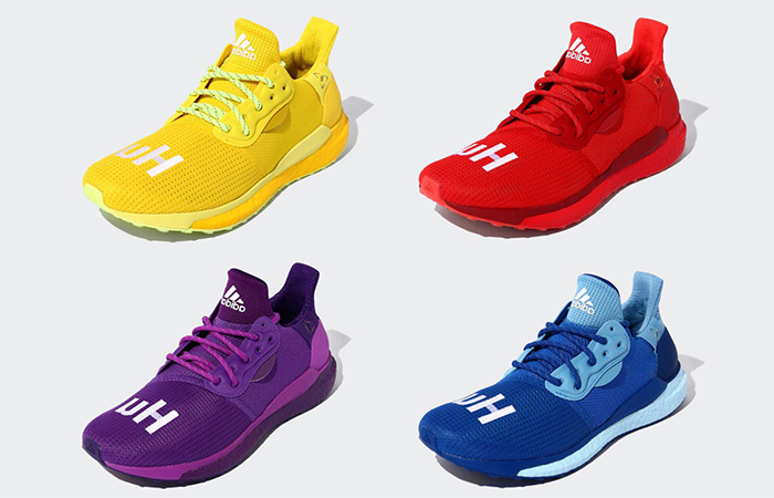 Pharrell adidas Solar Hu Glide Releasing With A Rainbow Colour Sequence ft