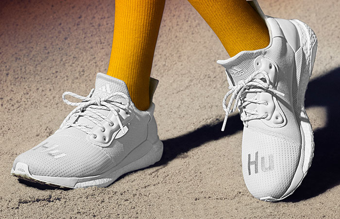 discount new products huge sale Pharrell adidas Solar Hu Glide White