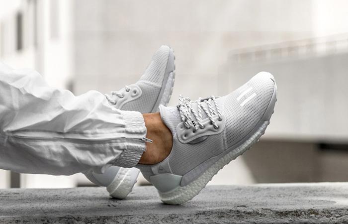 Pharrell adidas Solar Hu Glide White EF2378 on foot 03