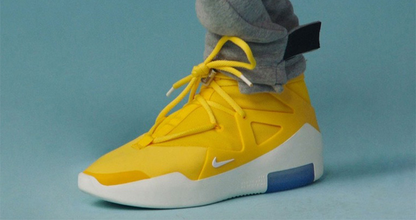 The Nike Air Fear Of God 1 'Yellow' Finally Confirmed Their Release