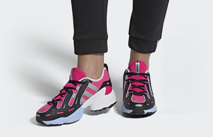 adidas EQT Gazelle Shock Pink EE5150 on foot 01