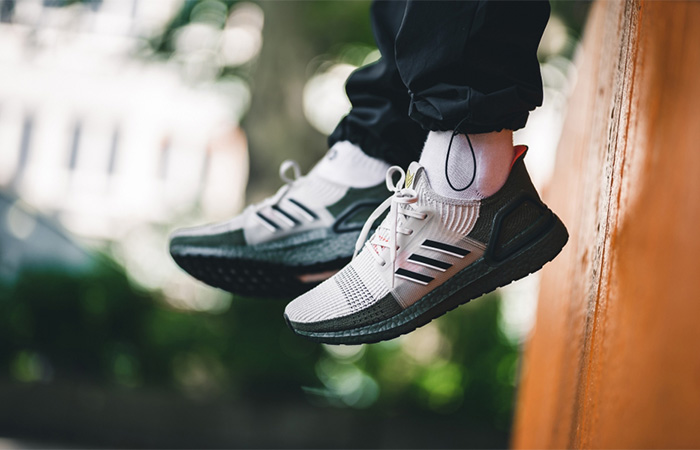 adidas Ultra Boost 19 Grey Olive G27510 on foot 01
