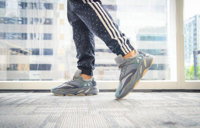 adidas Yeezy Boost 700 Teal Blue FW2499 on foot 02
