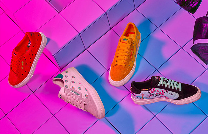 AriZona And adidas Collaborates For A Colourful Floral Continental 80 Collection ft