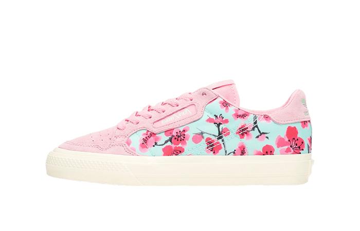 AriZona adidas Womens Continental Vulc Floral Pink EG7977 01
