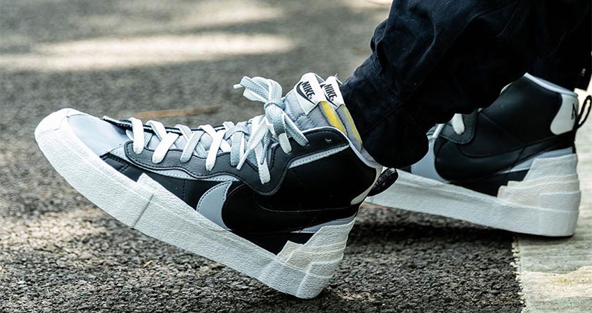 Best Look At The sacai Nike Blazer In Black 01