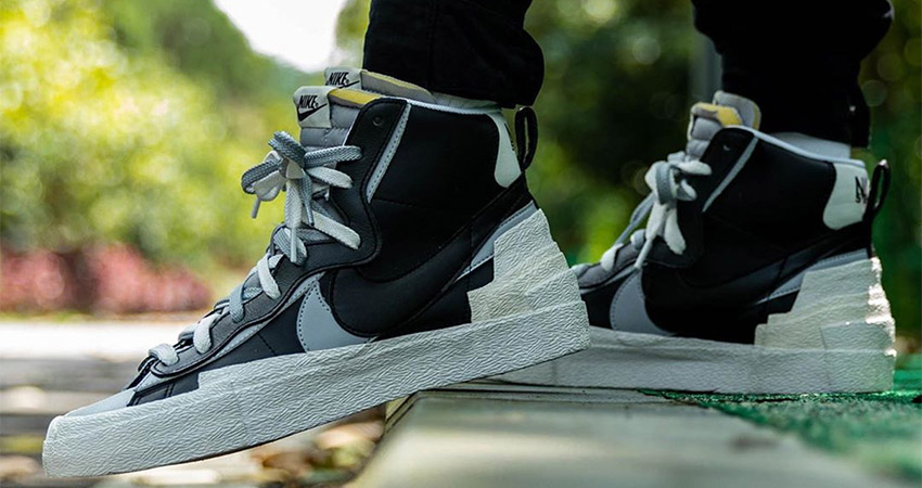 Best Look At The sacai Nike Blazer In Black 02
