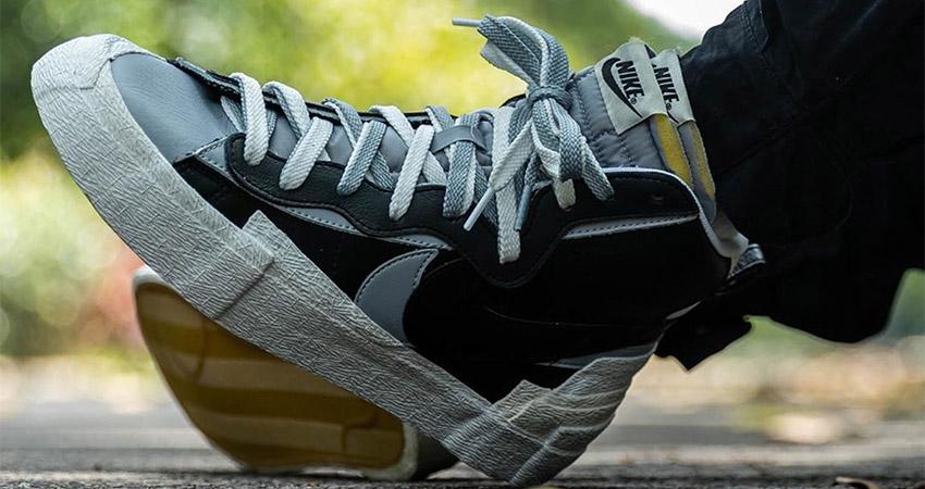 Best Look At The sacai Nike Blazer In Black 03