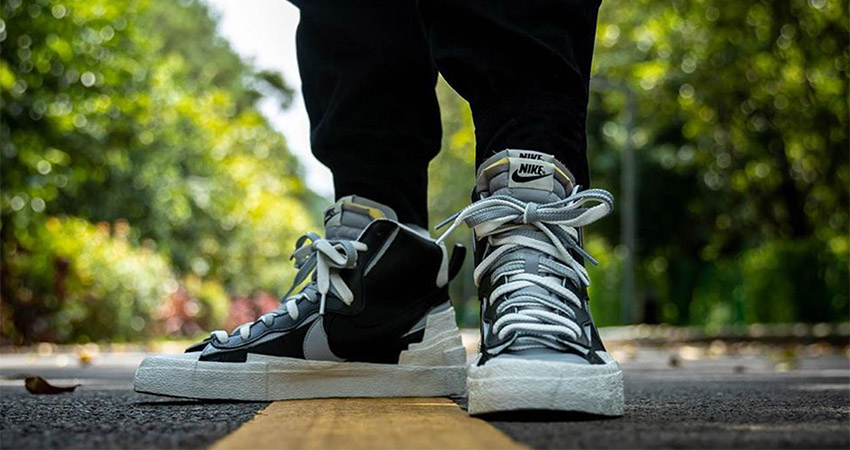Best Look At The sacai Nike Blazer In Black 04