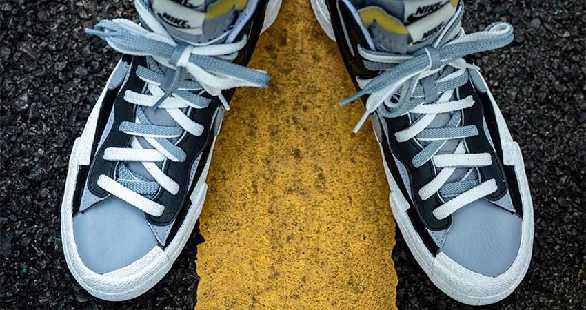 Best Look At The sacai Nike Blazer In Black 05