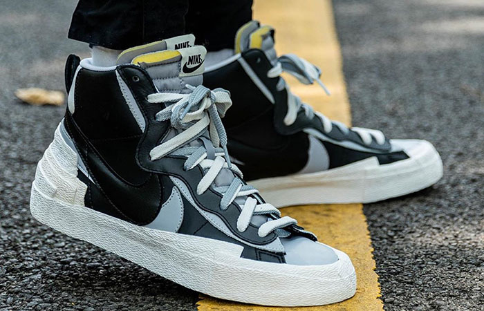 Best Look At The sacai Nike Blazer In Black ft