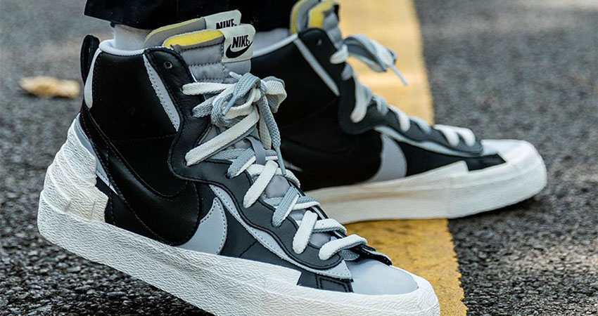Best Look At The sacai Nike Blazer In Black