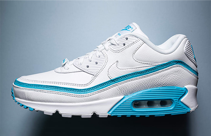 First Look Leaked For The UNDEFEATED Nike Air Max 90 Blue White ft