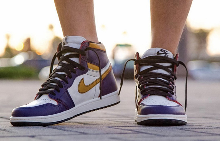 Here Is The Release Date Of Jordan 1 Nike SB Purple Gold ft