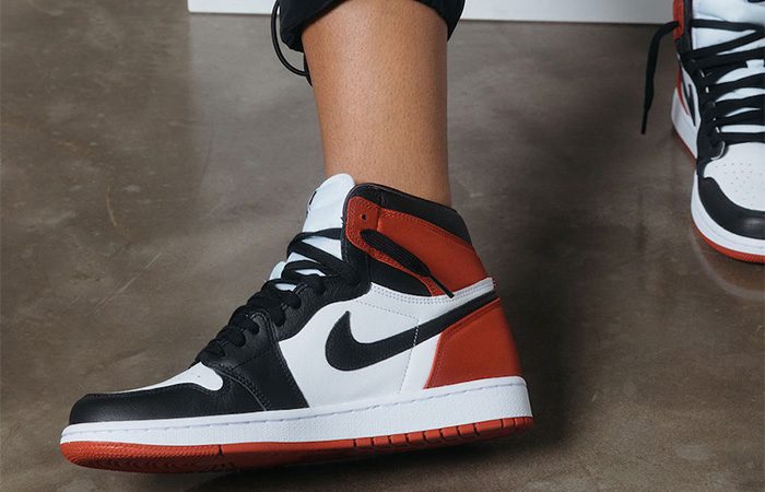 Here Is The Release Date Of Nike Air Jordan 1 Satin Black Toe Universty Red ft