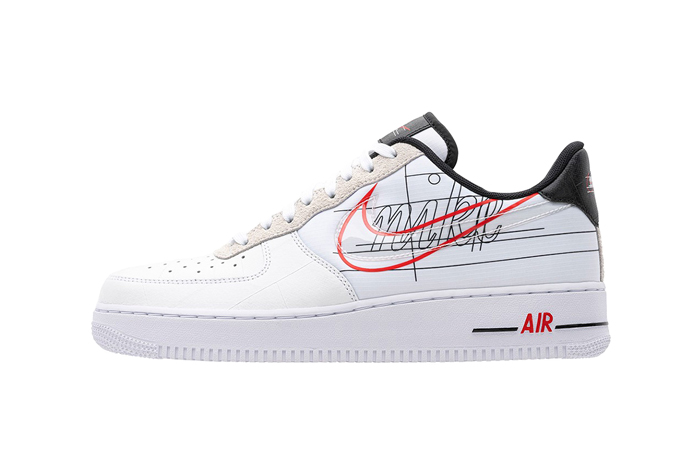 Nike Air Force 1 Script Swoosh Pack White Red 01