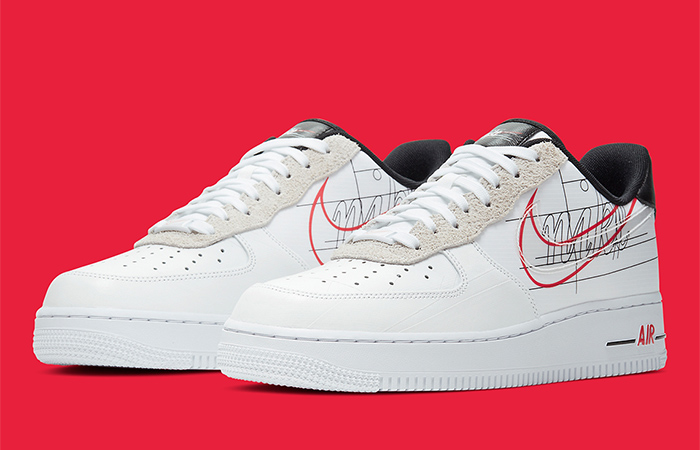 Nike Air Force 1 Script Swoosh Pack White Red 02